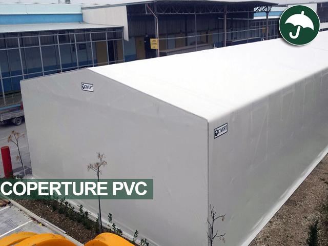 Coperture pvc Civert: tunnel retrattili e capannoni mobili